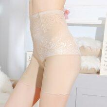Shorts mit Blumen Muster und hoher Taille