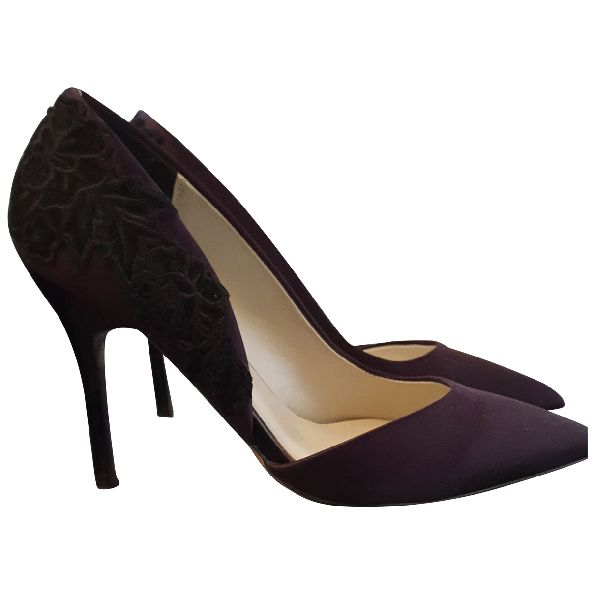 Karen Millen N Purple Leather Heels for Women 36 EU