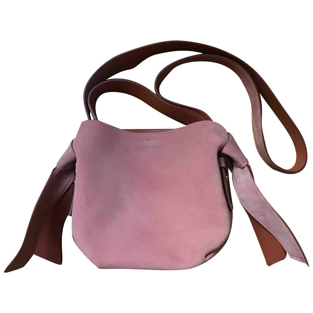 Acne Studios Musubi Pink Suede handbag for Women \N