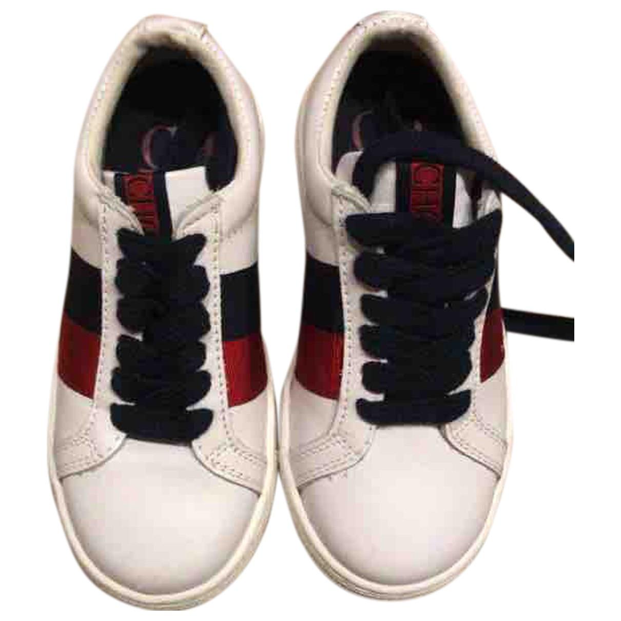 Carolina Herrera \N Sneakers in  Weiss Leder
