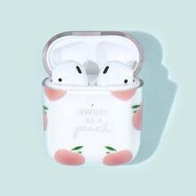 Peach Pattern Airpods Case