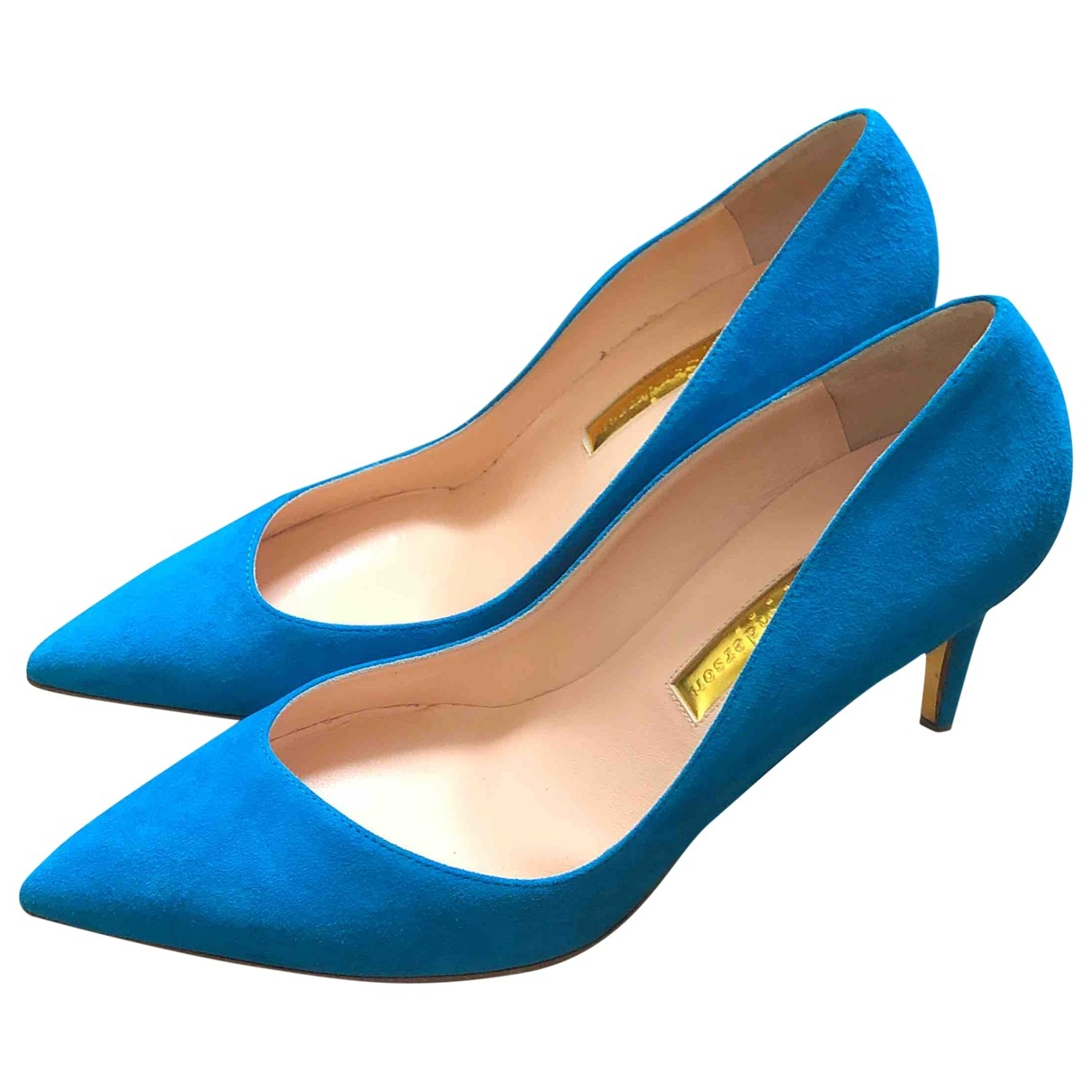 Rupert Sanderson \N Turquoise Suede Heels for Women 39 EU