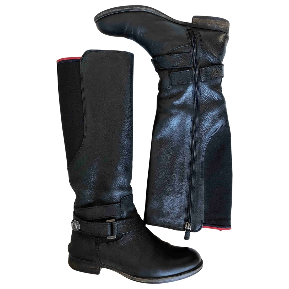 Tommy Hilfiger \N Black Leather Boots for Women 36 EU