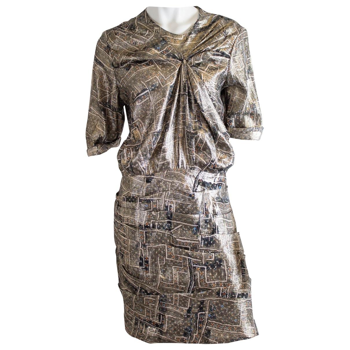 Isabel Marant Pour H&m \N Kleid in  Metallic Synthetik