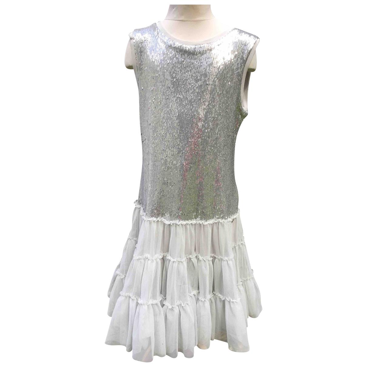 Diesel \N Kleid in  Grau Mit Pailletten