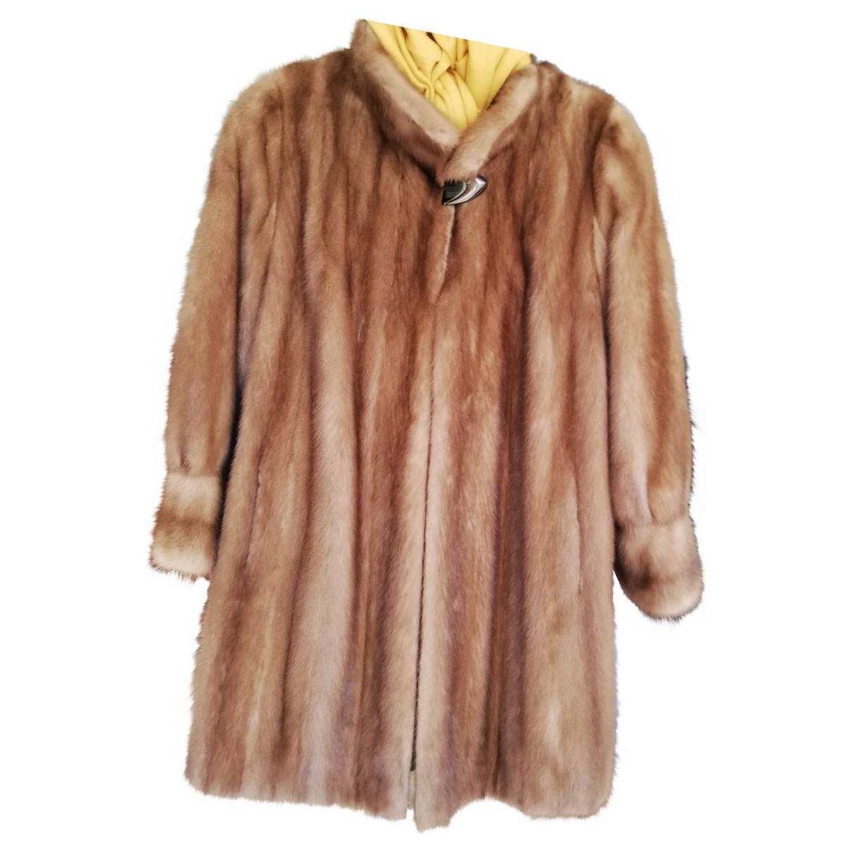 - Manteau   pour femme en fourrure - dore