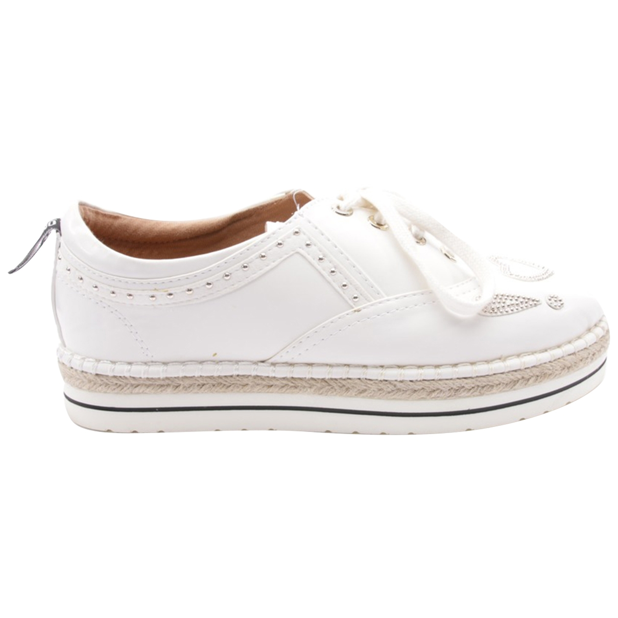 Moma \N White Leather Flats for Women 40 EU