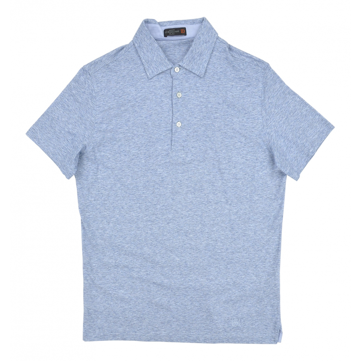 Corneliani - Polos   pour homme en coton - bleu