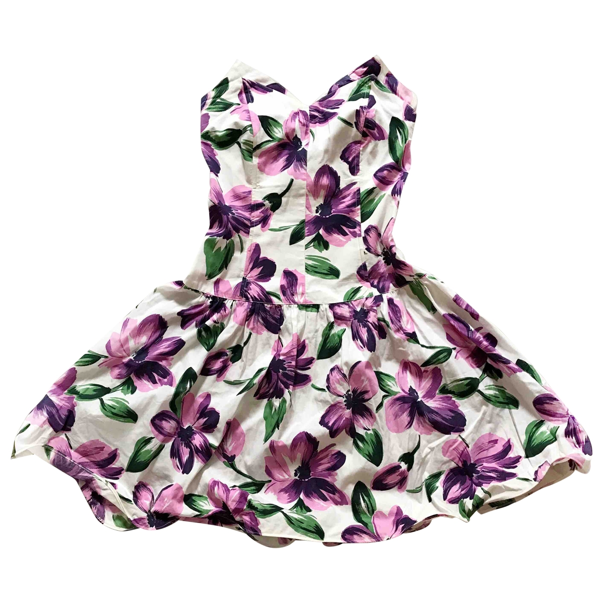 - Robe   pour femme en coton - blanc