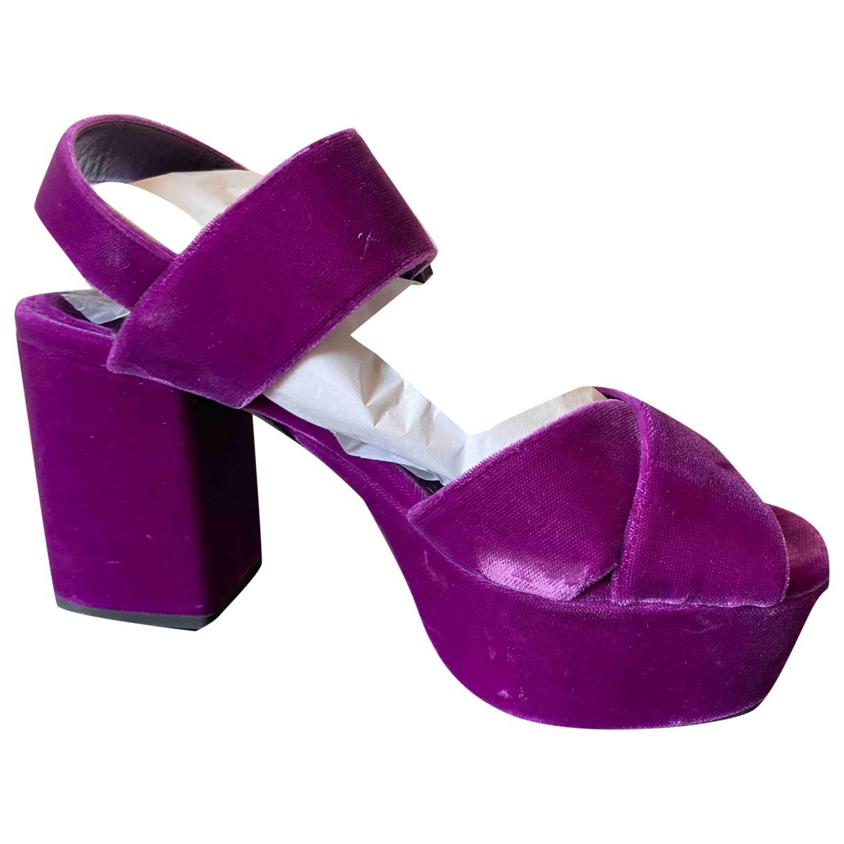 Prada - Sandales   pour femme en velours - violet