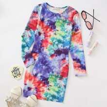 Girls Tie Dye Dress