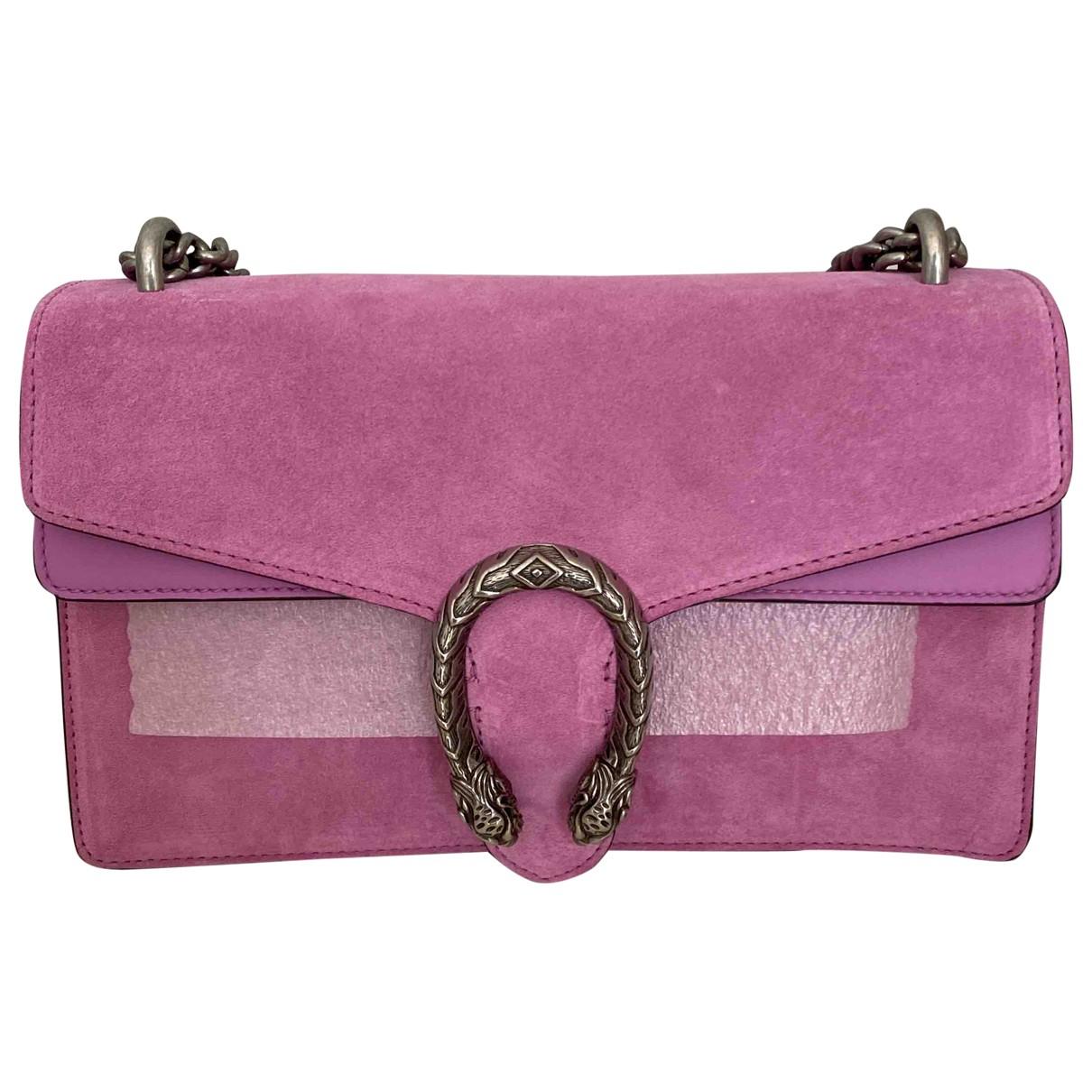 Gucci Dionysus Pink Suede handbag for Women \N
