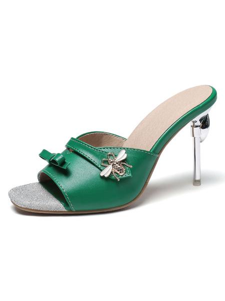 Milanoo Sandalias sin espalda con sandalias sin cordones y sandalias