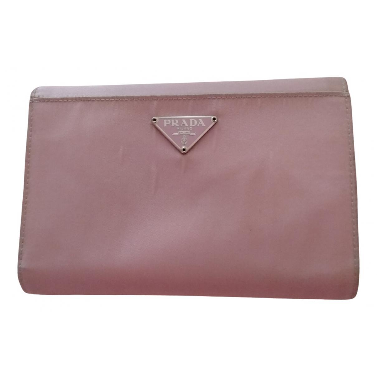 Prada N Pink Cloth wallet for Women N