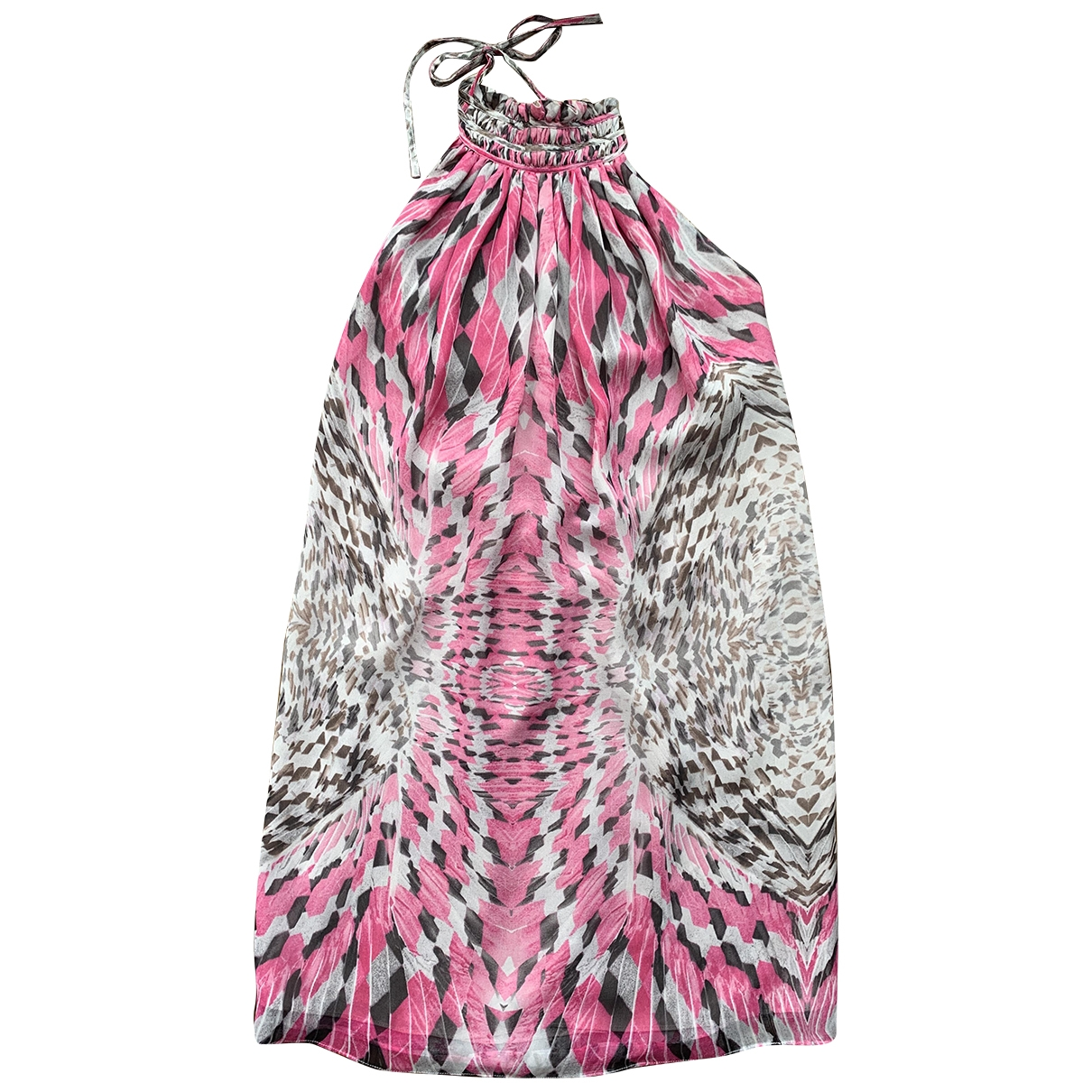 Non Signé / Unsigned \N Multicolour Silk dress for Women 42 IT