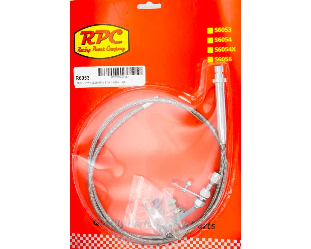 Racing Power Company R6053 Stainless Kick Down Assembly For GM TH350
