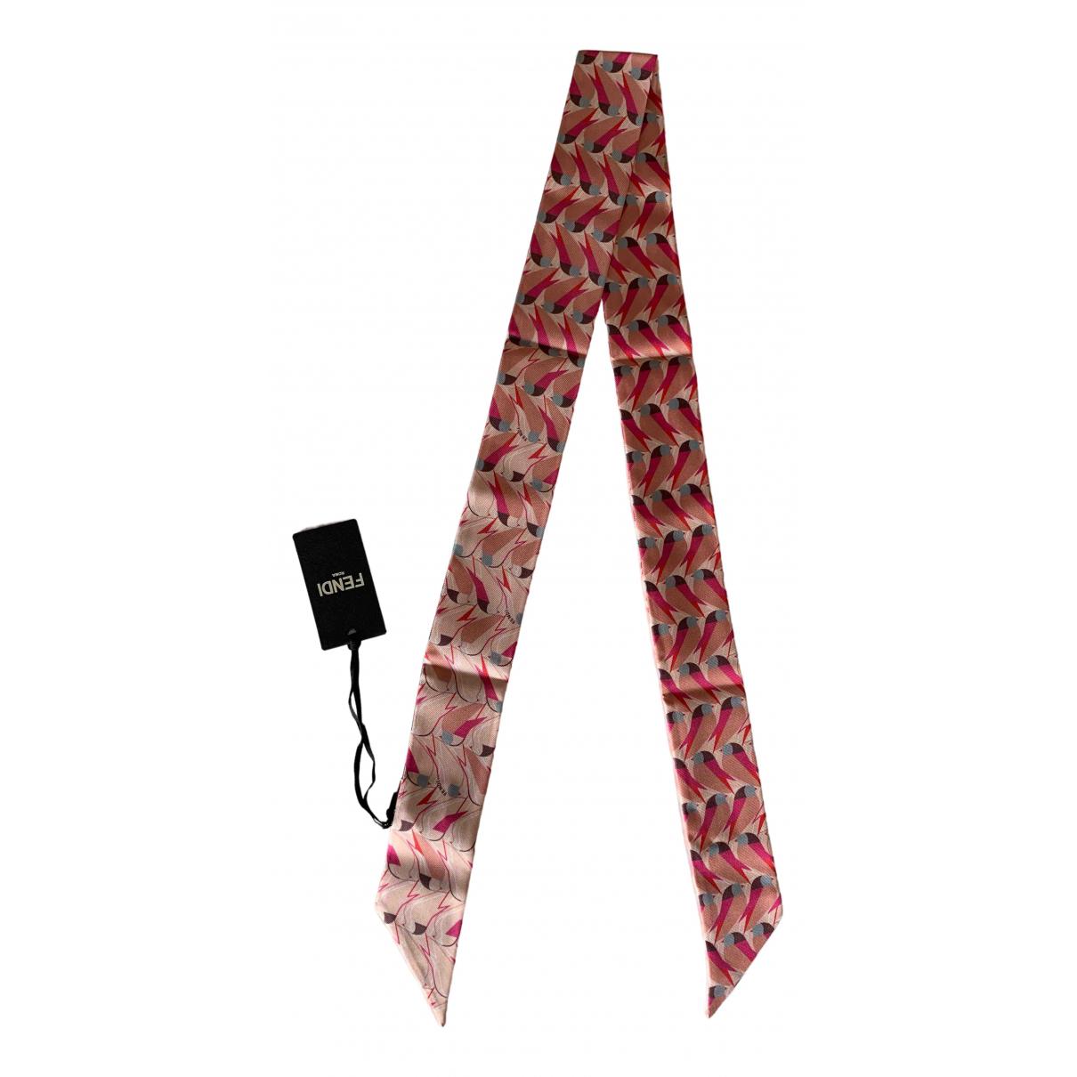 Fendi \N Schal in  Rosa Seide