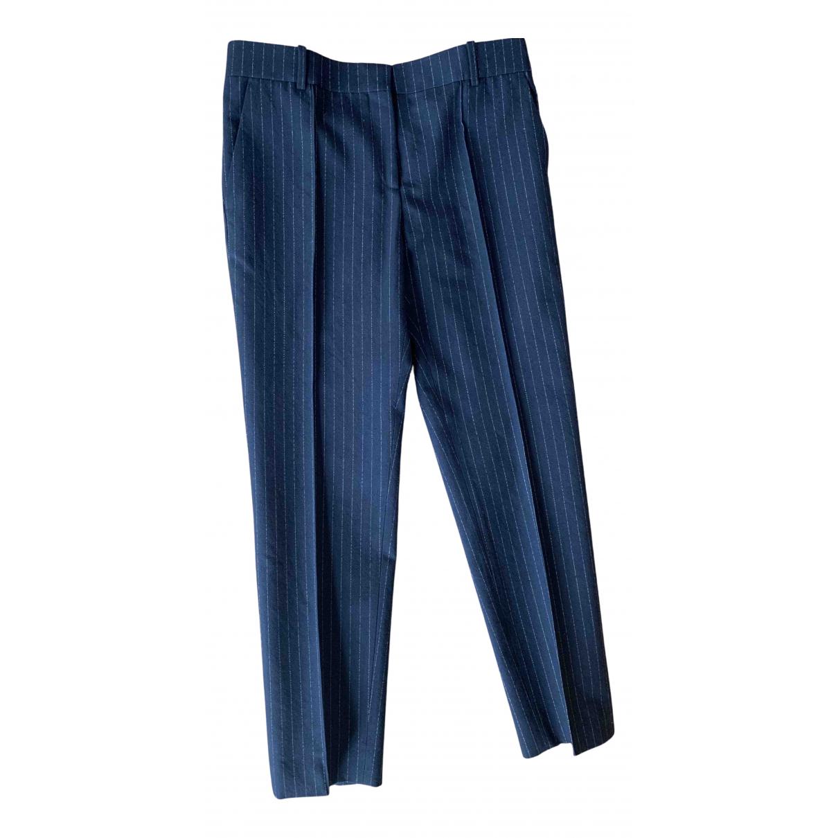 Celine N Navy Trousers for Women 38 FR