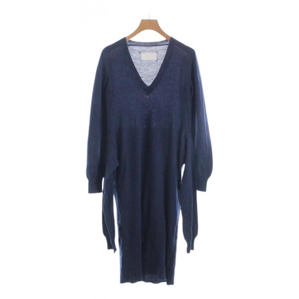 Maison Martin Margiela \N Kleid in  Blau Wolle