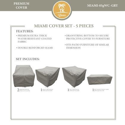 Miami MIAMI-05gWC-GRY MIAMI-05g Protective Cover Set in