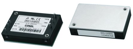 Cosel DHS 100.5W Isolated DC-DC Converter PCB Mount, Voltage in 60 → 160 V dc, Voltage out 15V dc