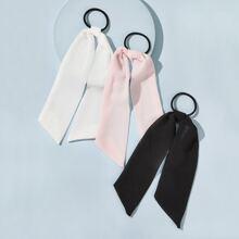 3pcs Bow Knot Decor Hair Tie