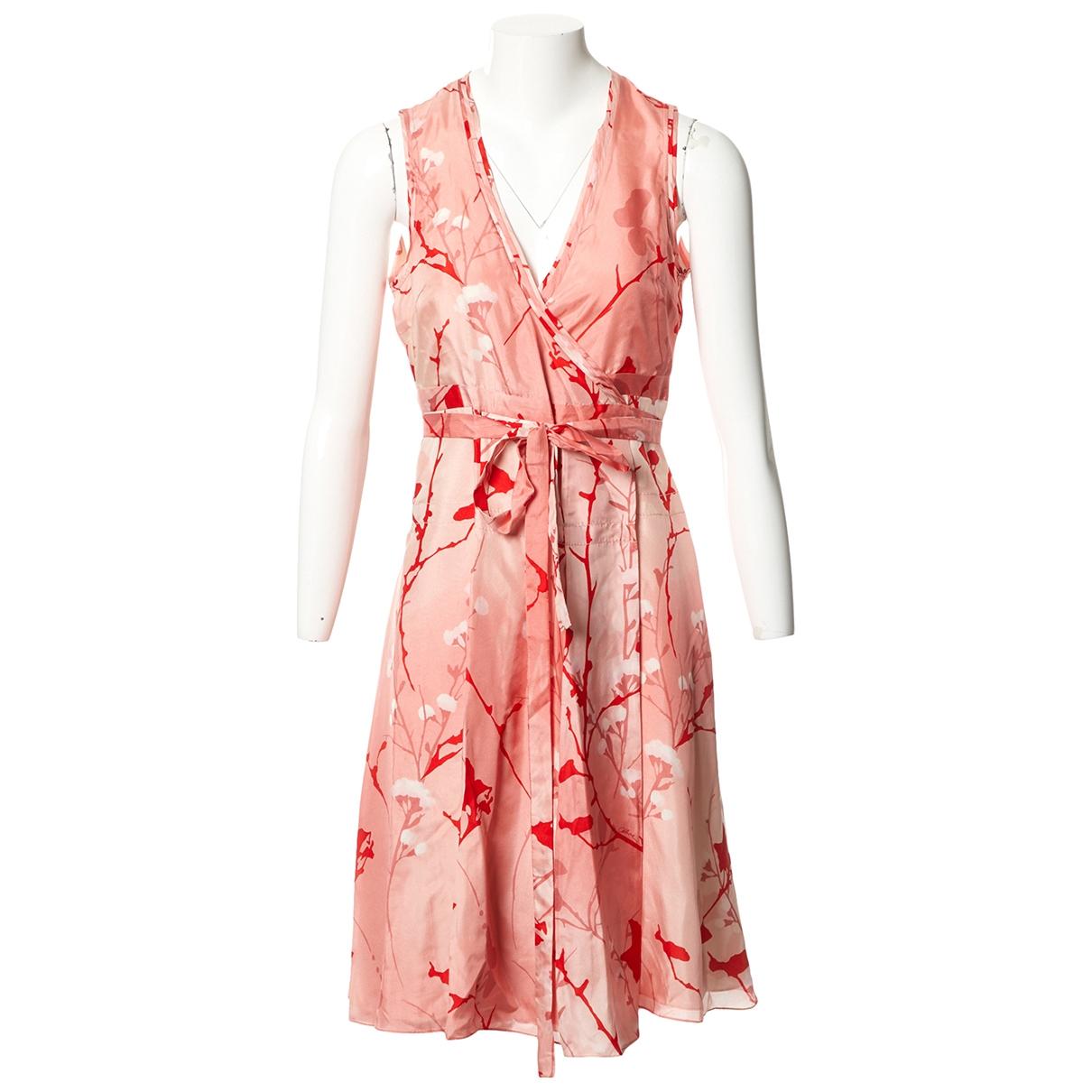 Celine \N Kleid in  Rosa Seide