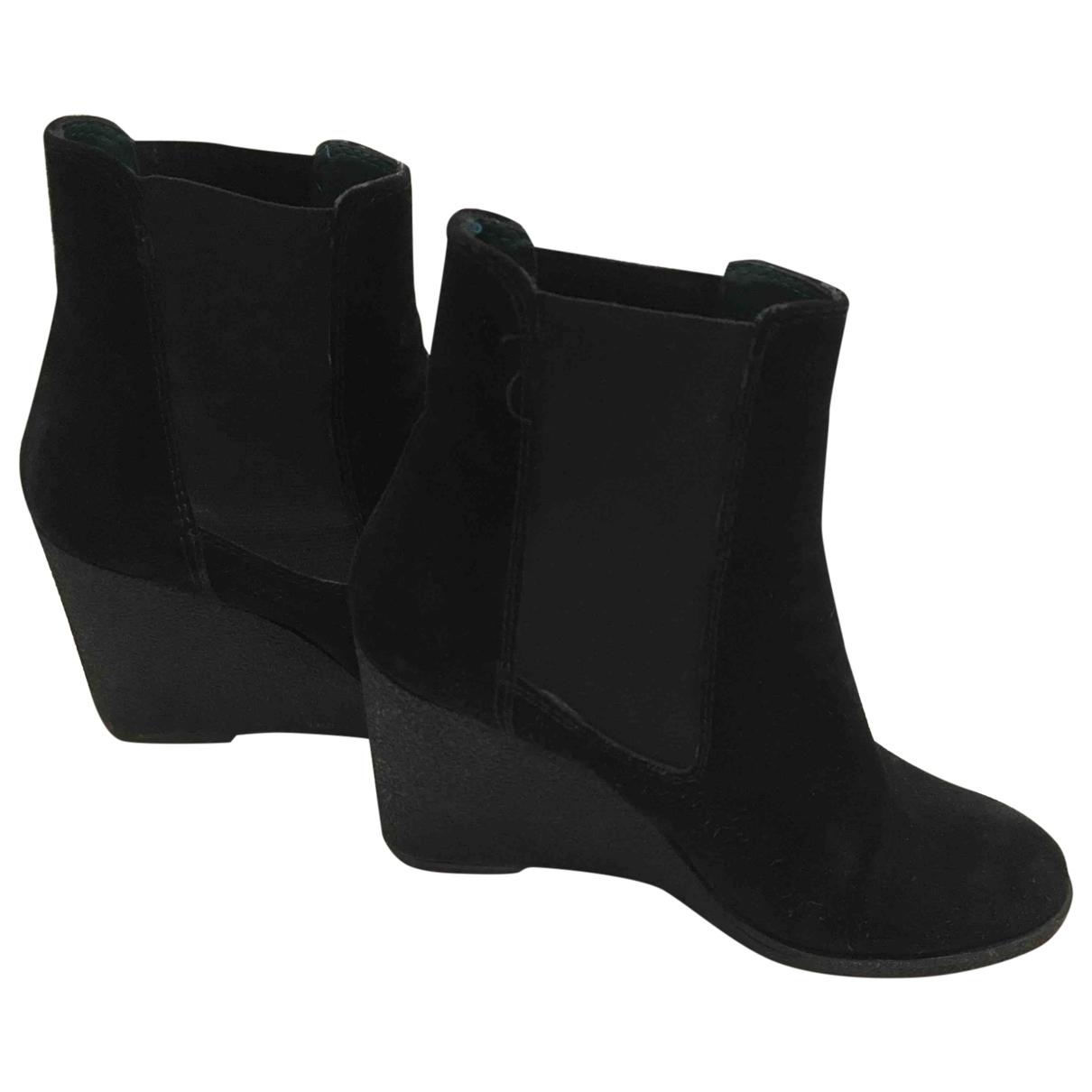 Castaner - Boots   pour femme en suede - noir