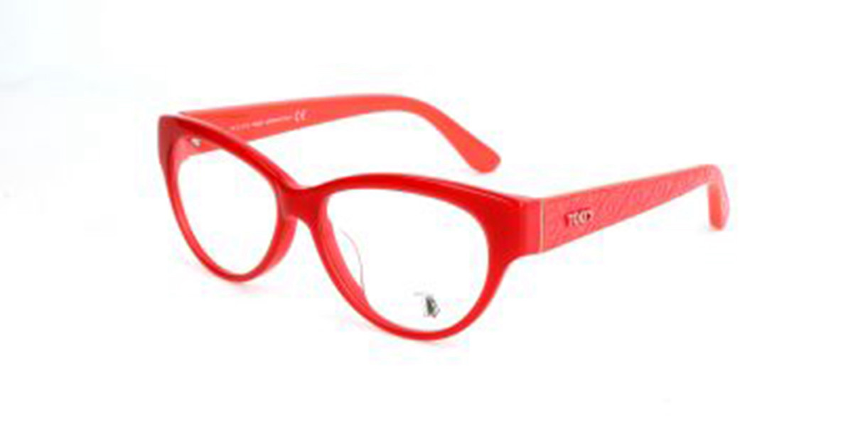 TODS TO4083 068 Men's Glasses Red Size 54 - Free Lenses - HSA/FSA Insurance - Blue Light Block Available