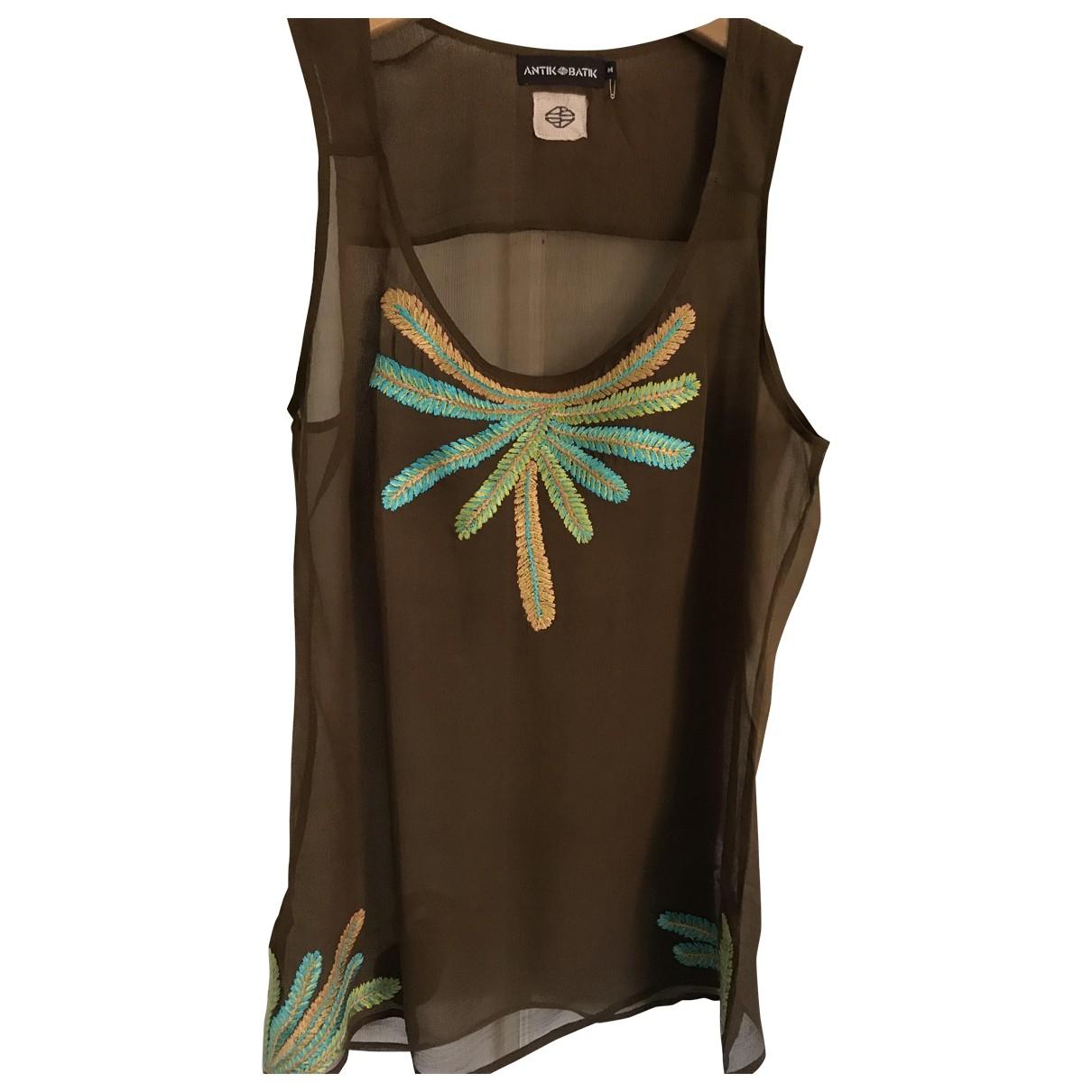 Antik Batik \N Brown Silk  top for Women M International