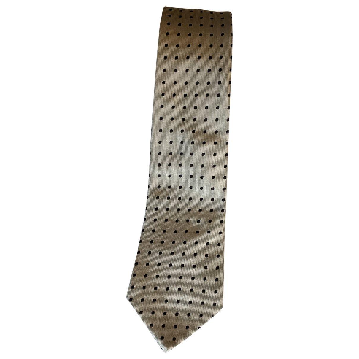 Gucci \N Krawatten in  Beige Seide