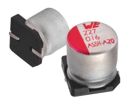 Wurth Elektronik 220μF Electrolytic Capacitor 16V dc, Surface Mount - 865230357006 (5)