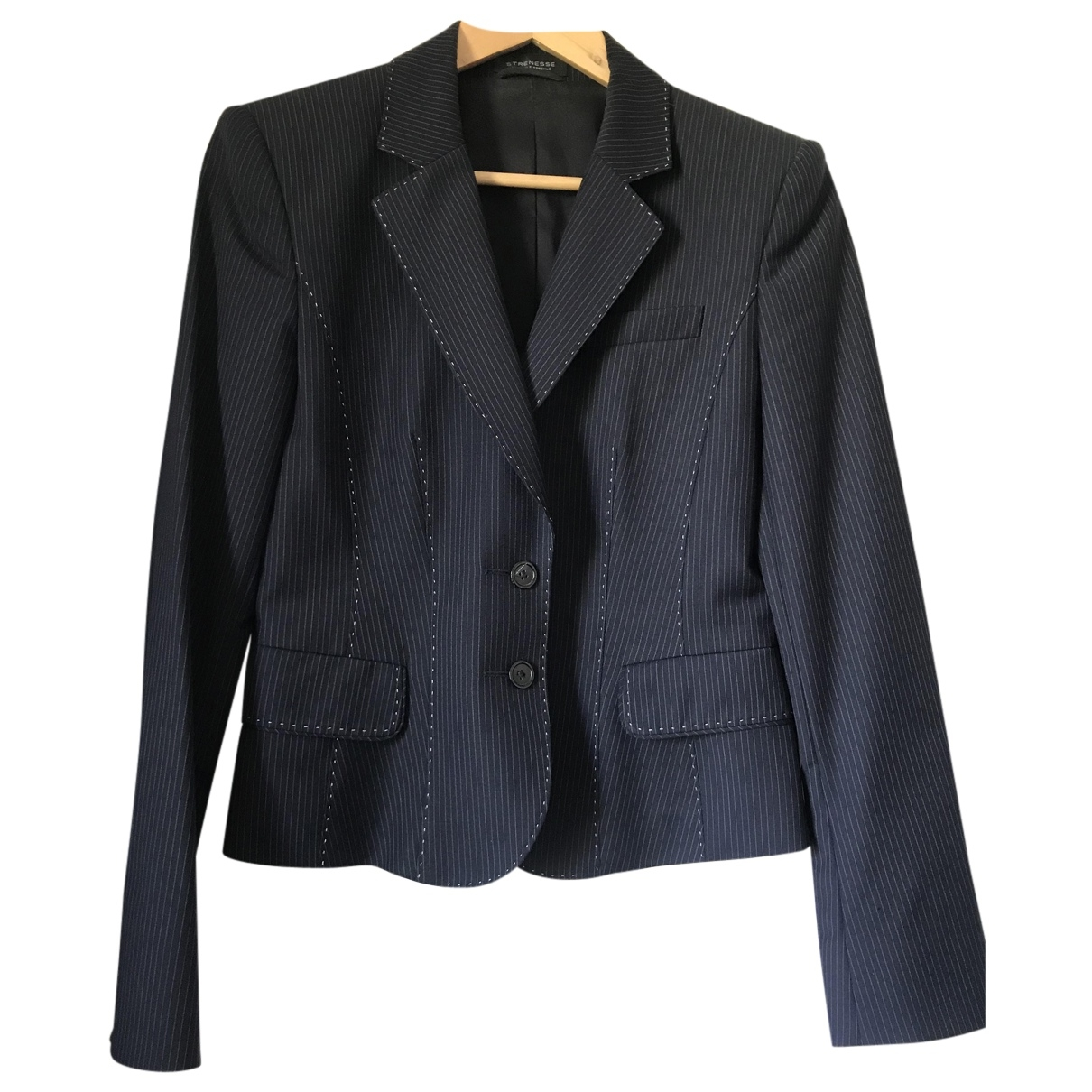Strenesse \N Blue Wool jacket for Women 38 FR