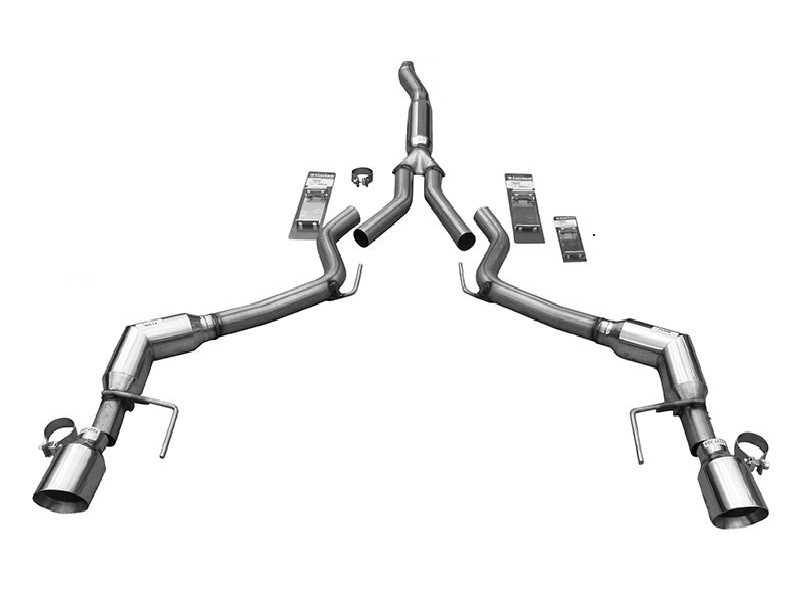 Solo Performance 993176BK Catback Exhaust System (Black Tips) Ford Mustang Ecoboost 2015-2019