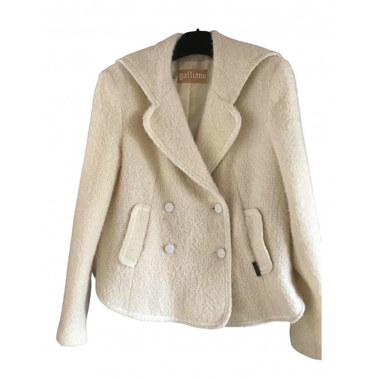 Galliano - Veste   pour femme en laine - ecru