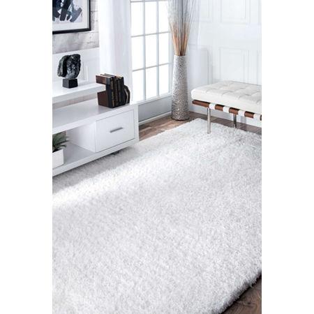 nuLoom Hand Tufted Magnifique Shag Rug, One Size , White