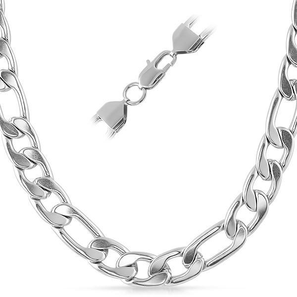 Figaro Stainless Steel Chain Necklace 12MM (24