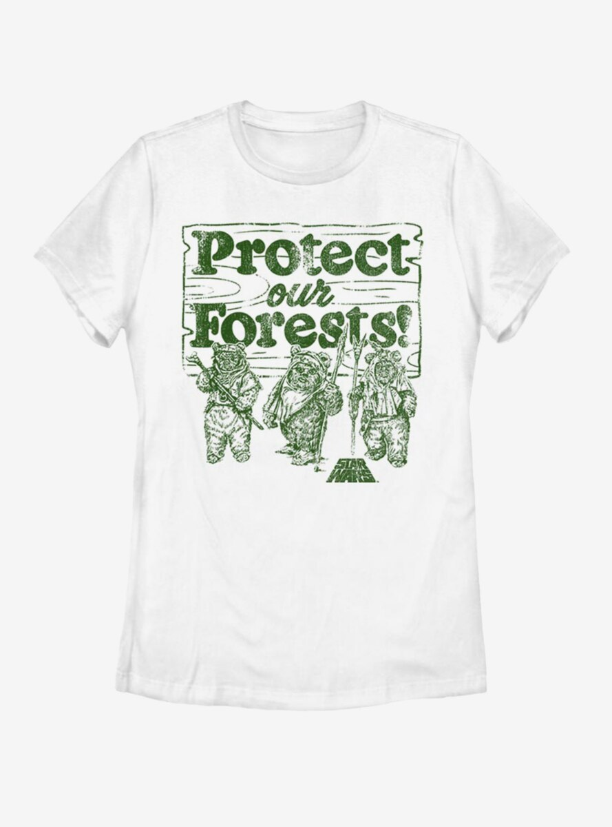 Star Wars Protect Our Forests Womens T-Shirt