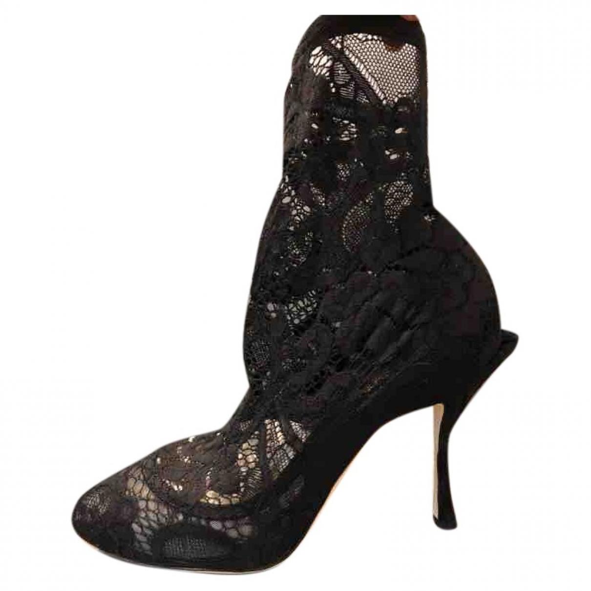 Dolce & Gabbana \N Stiefeletten in  Schwarz Leinen