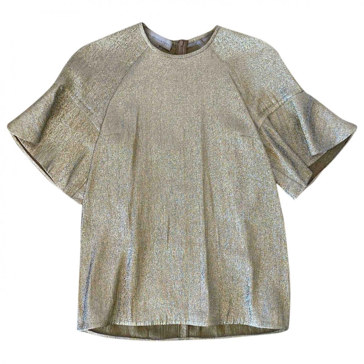 Stella Mccartney - Top   pour femme en soie - dore