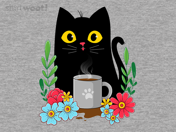 Coffee Cat T Shirt