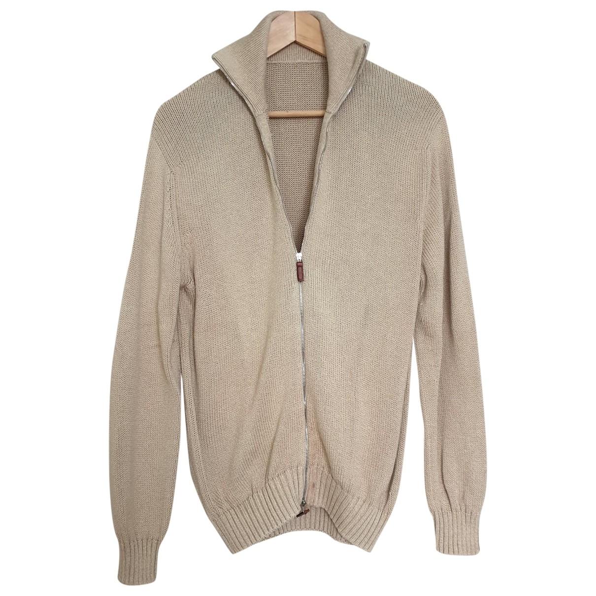 Barrie - Pulls.Gilets.Sweats   pour homme en coton - beige