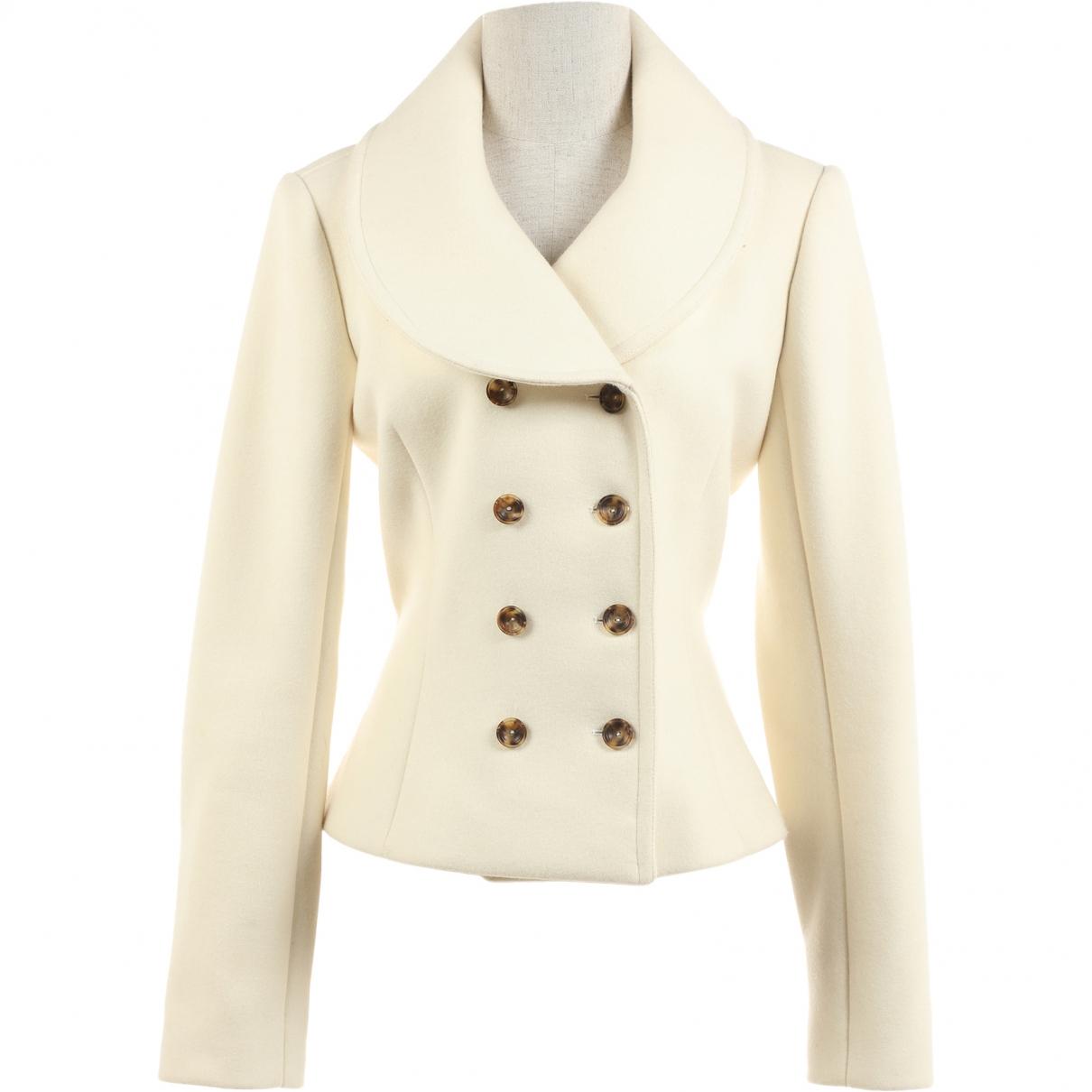 Alaia - Veste   pour femme en laine - blanc