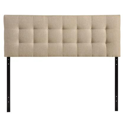 MOD-5144-BEI Lily King Fabric Headboard in Beige