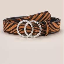 Guertel mit Zebra Muster und O-Ring Schnalle