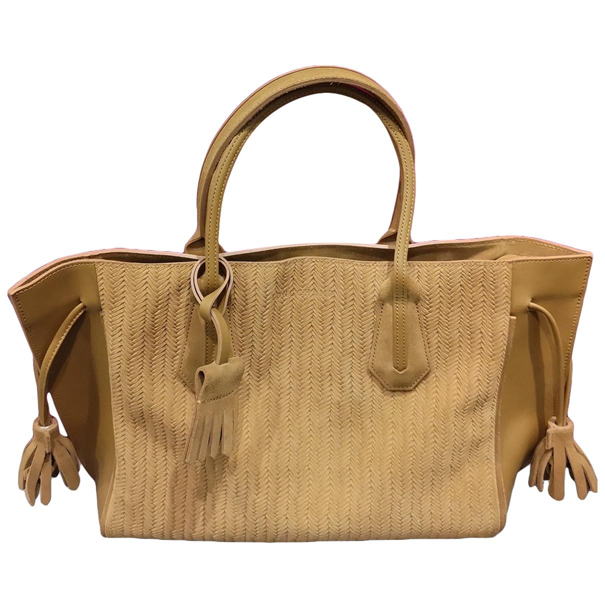 Longchamp - Sac a main Penelope  pour femme en cuir - camel