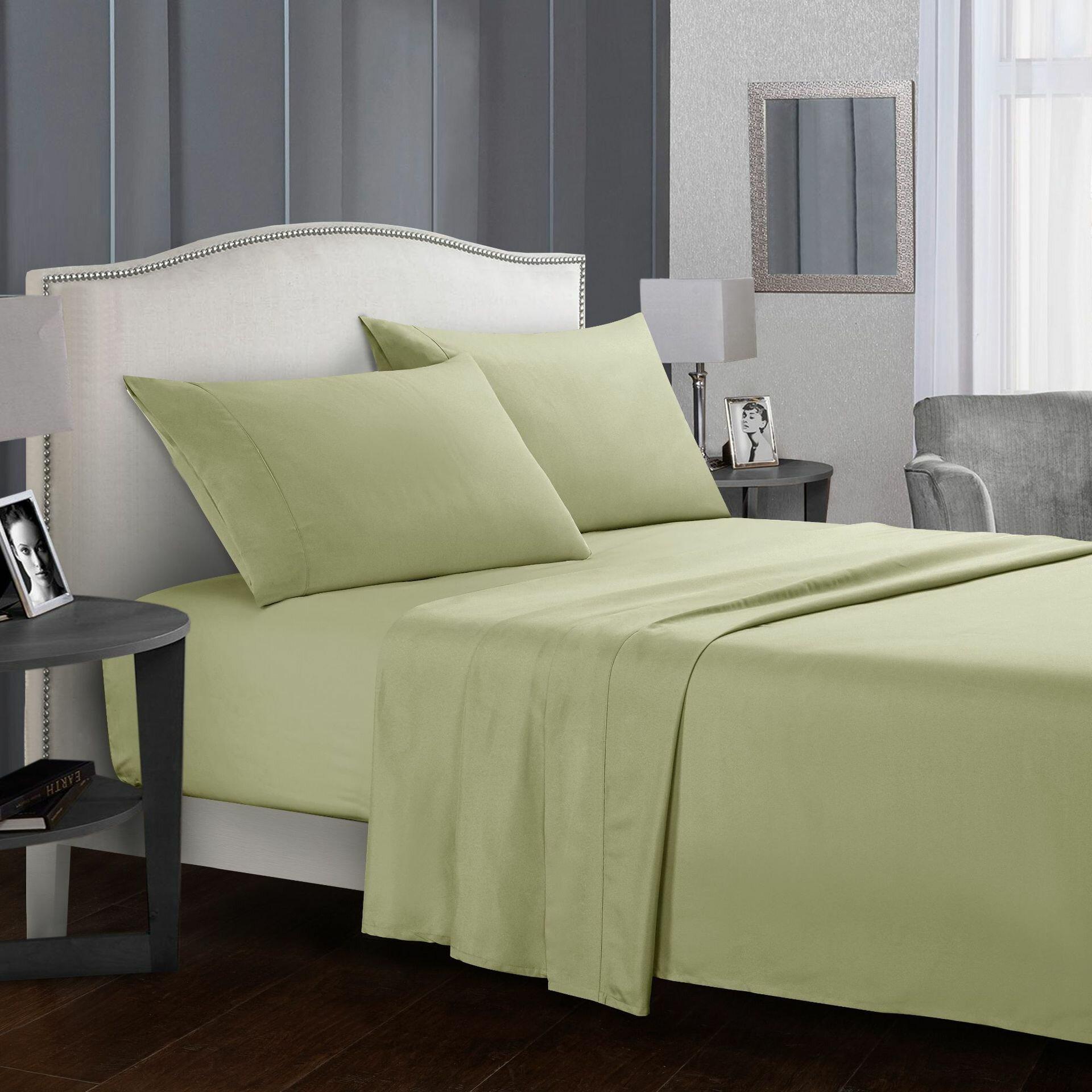 Hotel Luxury Comfort Bed Sheets Set Bedding Set Deep Pockets Wrinkle & Fade Resistant Hypoallergenic Sheet & Pillow Case