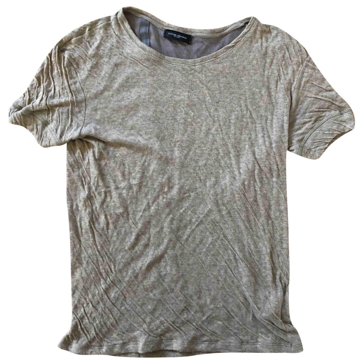 Costume National \N T-Shirts in  Beige Baumwolle