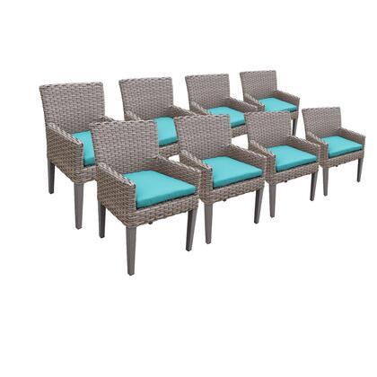 TKC297b-DC-4x-C-ARUBA 8 Oasis Dining Chairs With Arms with 2 Covers: Grey and