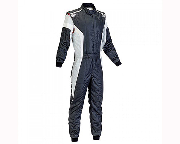 OMP Racing IA0185007654 FIA 2 Layer Tecnica-S Racing Suit Black, White and Silver: 54